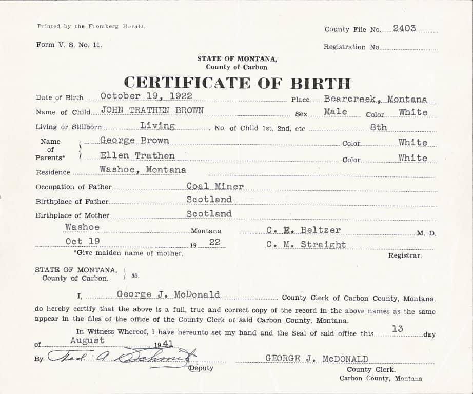 Birth Certificate sample 11.41
