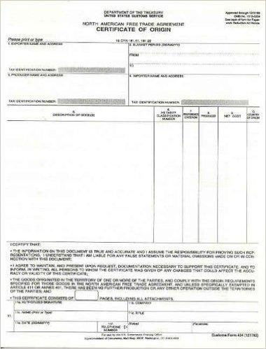 Certificate of Origin example 22.941