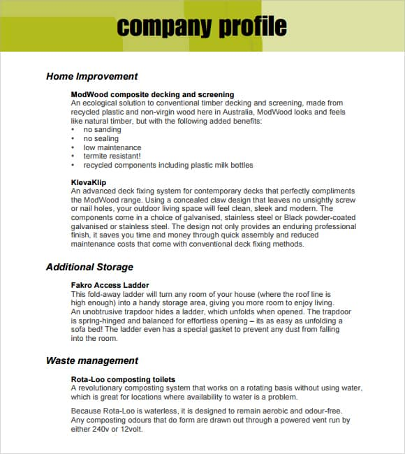 Superb Word Excel Templates Idea Format Of Company Profile