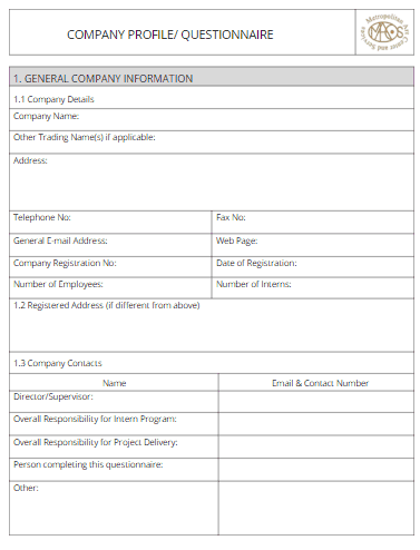 Company profile template 200