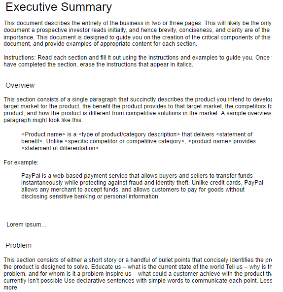 Executive Summary Template 4941