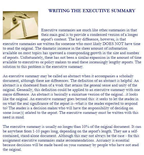 Executive Summary Template 9741