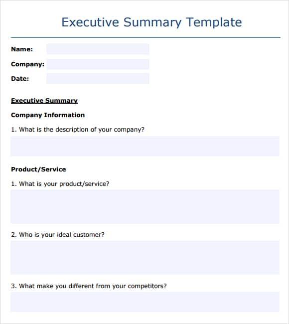 Executive Summary example 14.41