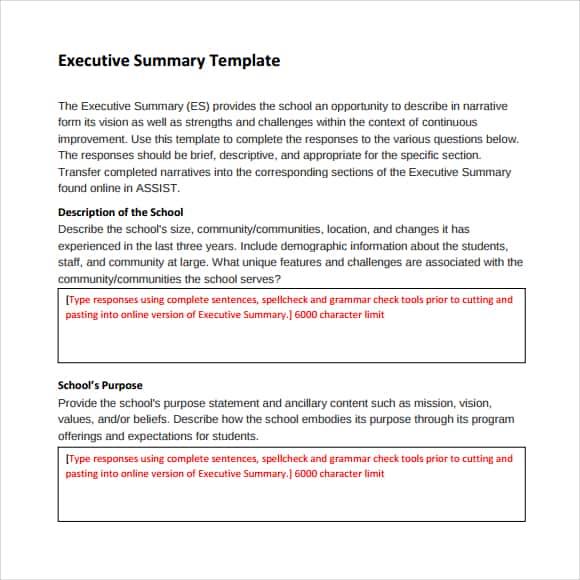 Executive Summary example 26.941