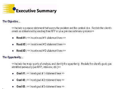 Perfect Word Excel Templates  Free Executive Summary Template