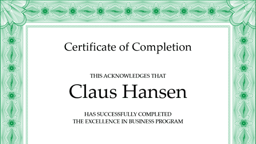 Free Certificate of Completion Template 39641