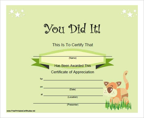 Terrible image with regard to certificate of completion template free printable