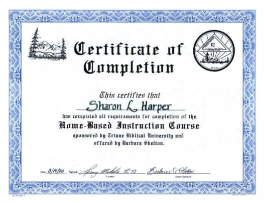 Free Certificate of Completion example 741