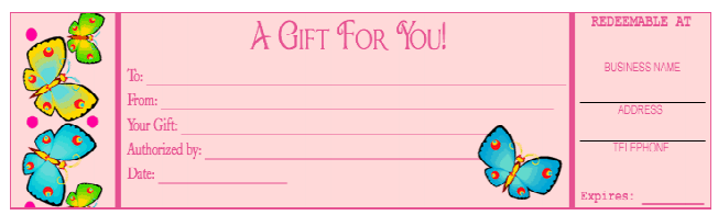 Free Gift Certificate Template 9941