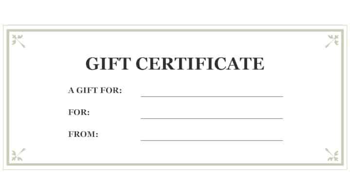 Free Gift Certificate sample 16.94