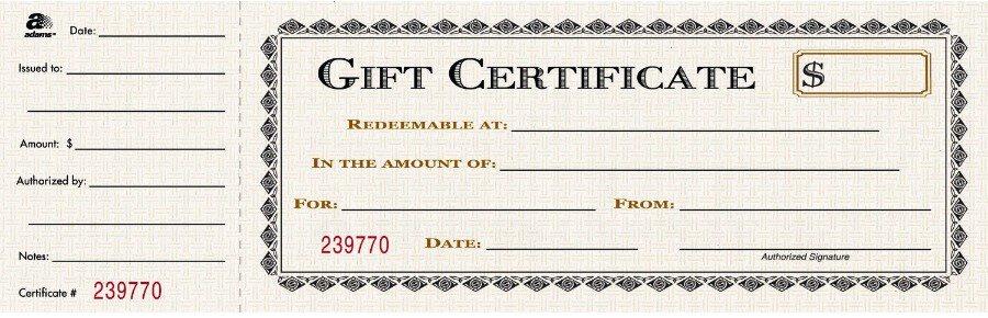 Free Gift Certificate sample 23.94
