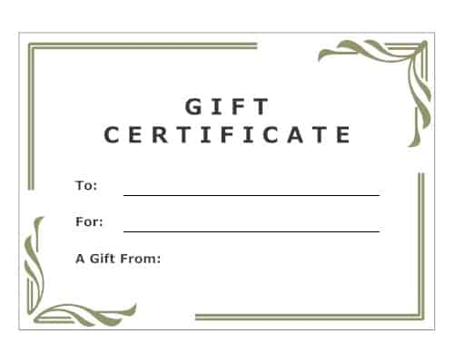 Free Gift Certificate sample 26.9641