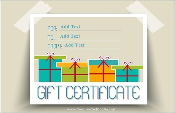 Free Gift Certificate sample 2941