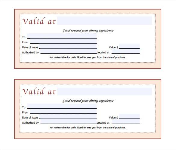 Free Gift Certificate sample 99741