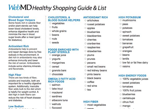 Grocery list sample 6941