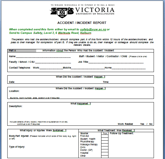 Incident Report Template 36941
