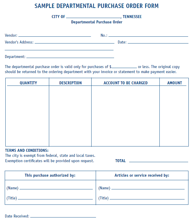 Purchase Order sample 19.164