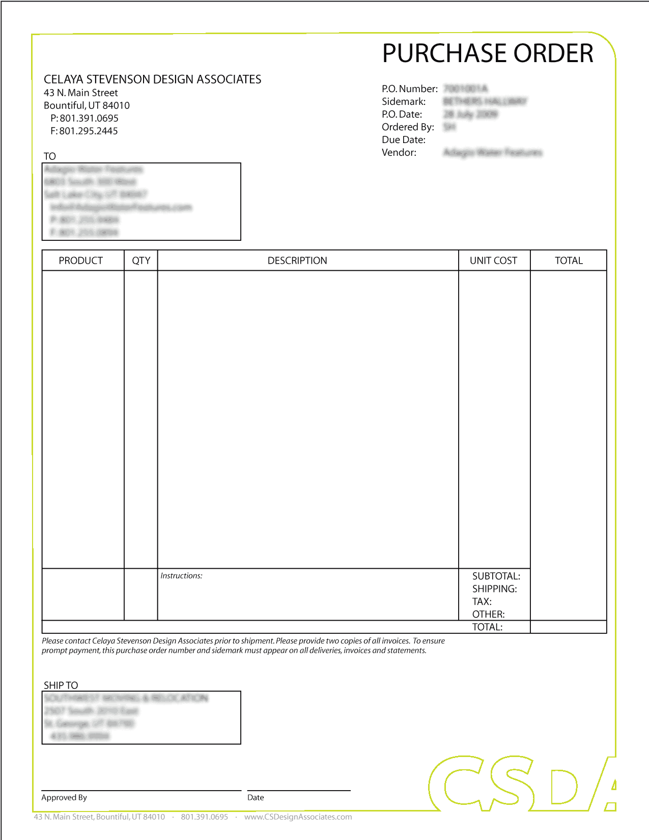 Purchase Order sample 28.9641