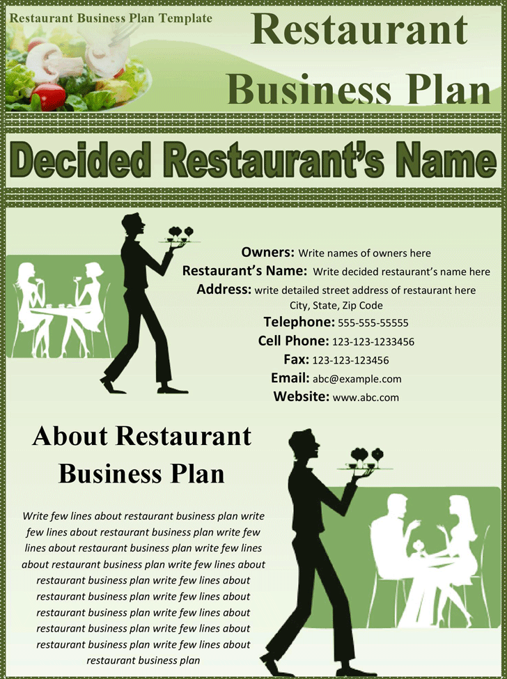 Free Restaurant Business Plan Templates In Word Excel PDF - Sample business plan template pdf