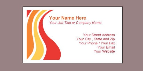 Visiting Card Template 4974