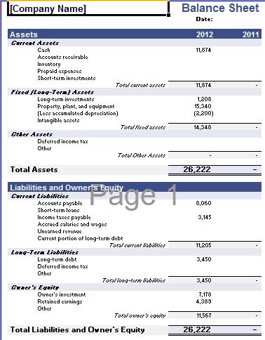 balance sheet template 29641