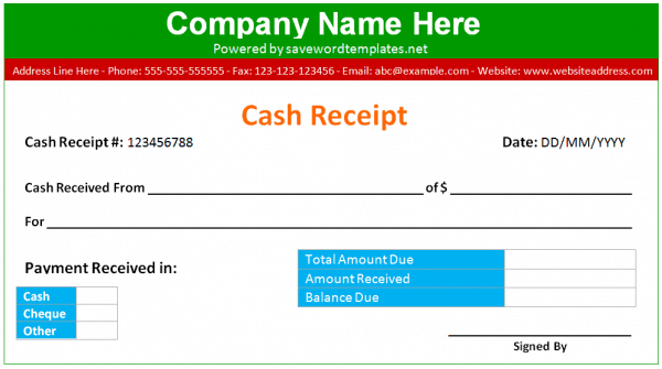 cash receipt example 10.641
