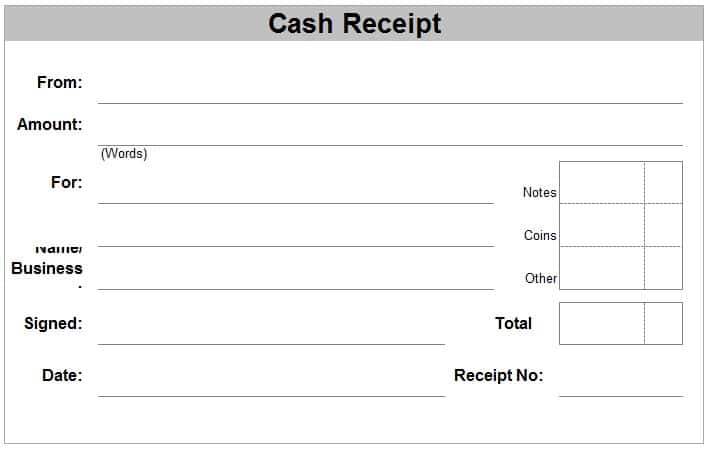 44+ Free Cash Receipt Templates in Word Excel PDF