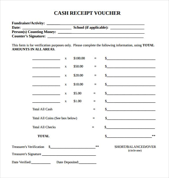 cash receipt template 4741