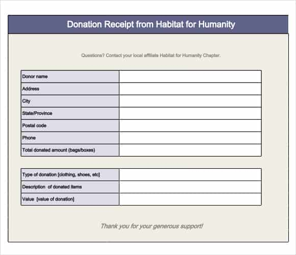 donation form example 541