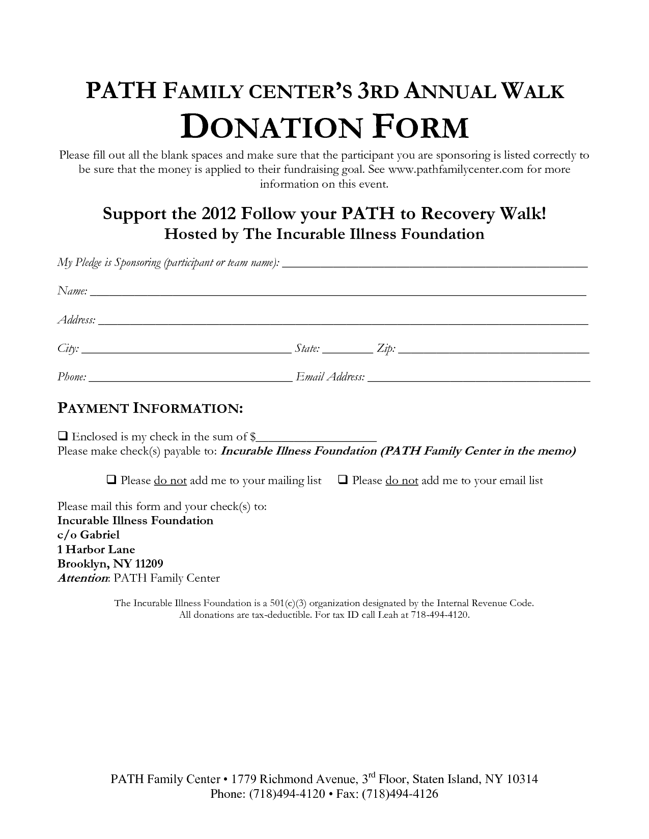 donation form template 9741