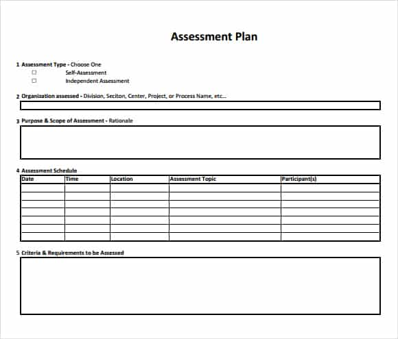 Free Assessment Templates In Word Excel Pdf Brochure