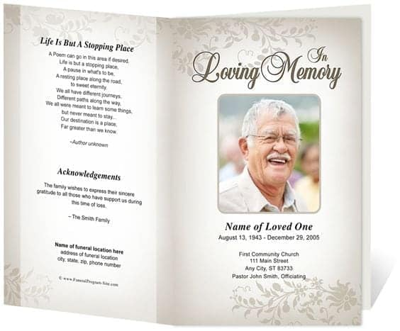 free funeral program sample 7941