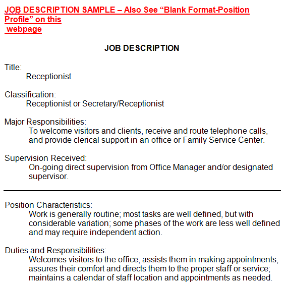 job description template 26941