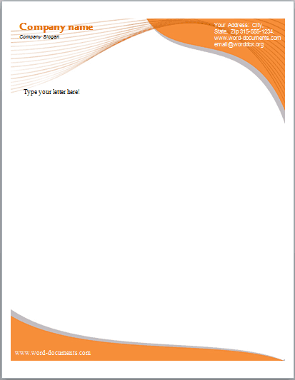 Word Excel Templates  Letterhead Samples Word