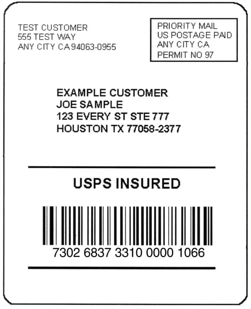 Mailing Label Examples | www.topsimages.com