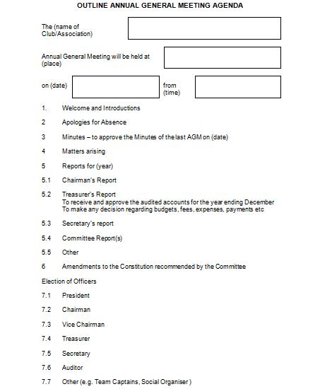 Agenda Formats   21 Free Meeting Agenda Format Word Excel Formats