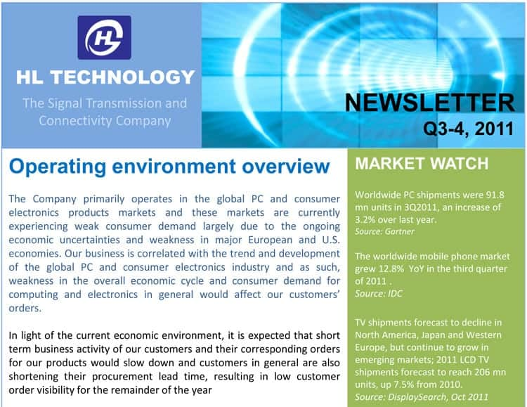 newsletter sample 11.641