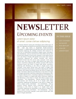 newsletter sample 69641