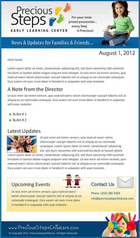 newsletter sample 761