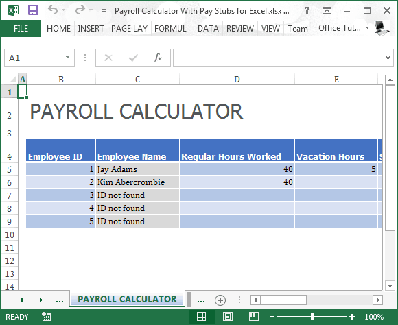 Good Word Excel Templates  Excel Templates For Payroll