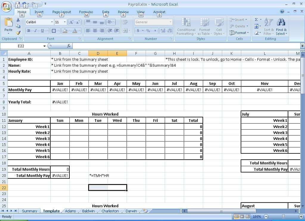 payroll sample template 11.6464