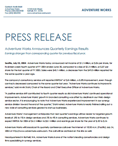 free press release template - 21 free press release template word excel formats