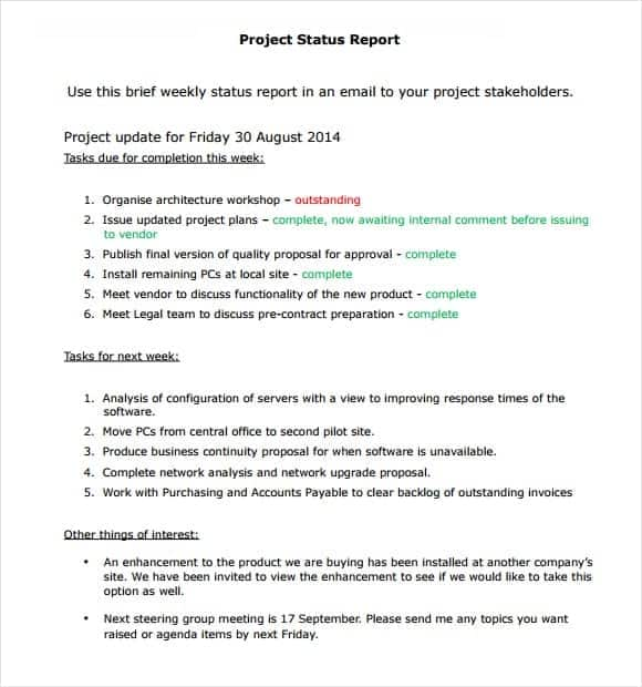 project report sample 12.461