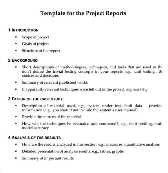 project report sample 13.41