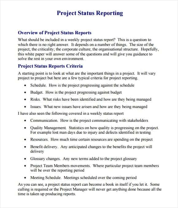 project report sample 99461