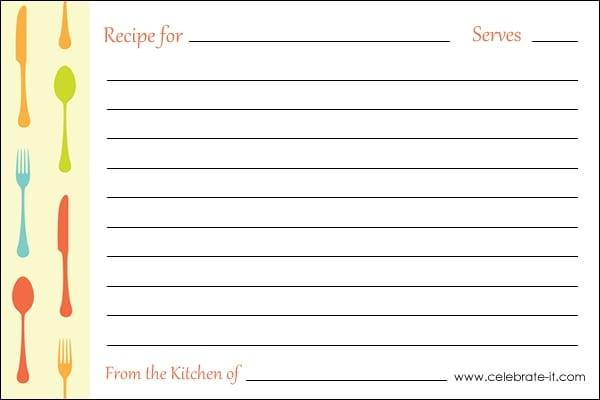 recipe card sample 9741