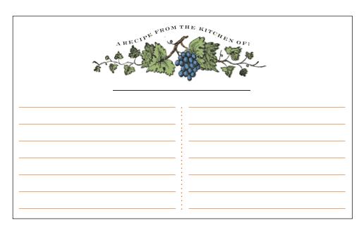recipe card template 174784