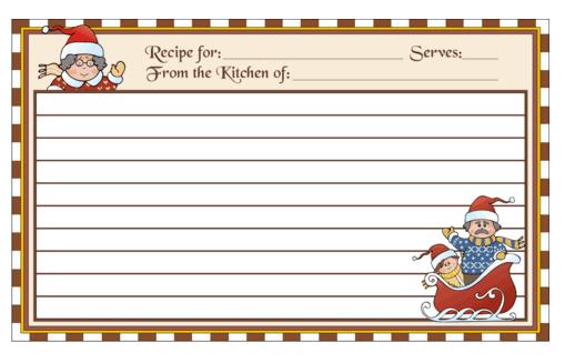 recipe card template 2941