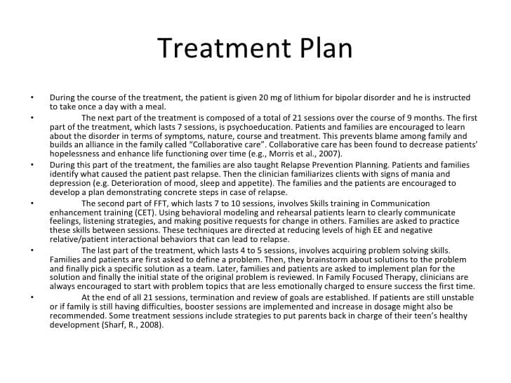 treatment plan example 9941