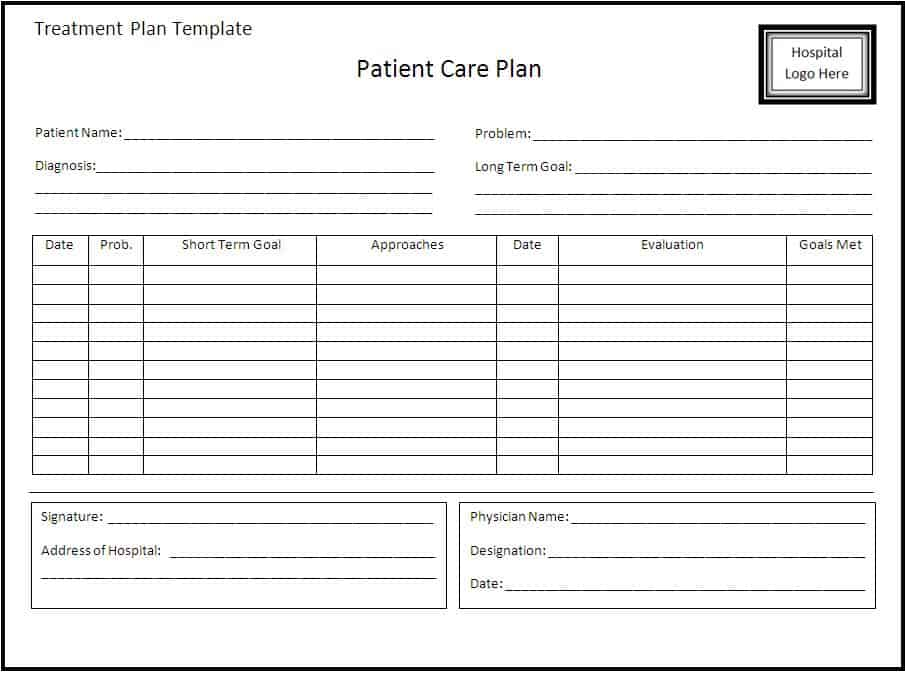 treatment plan template 5974